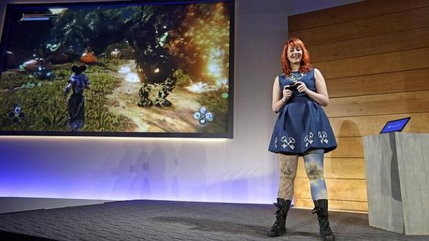 Lauran Carter, of Lionhead Studios shows how you can stream Xbox One games to your Surfac