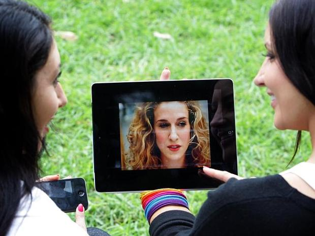 In demand ... Customers are flocking to video streaming services on their phone and ipads