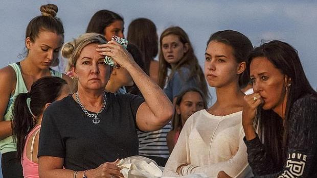 A candlelight vigil was held at Jupiter Inlet Park on Monday for Austin and Perry. Pictur