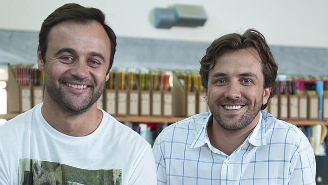 Gyton Grantley and Darren McMullen in last year's House Husbands series.