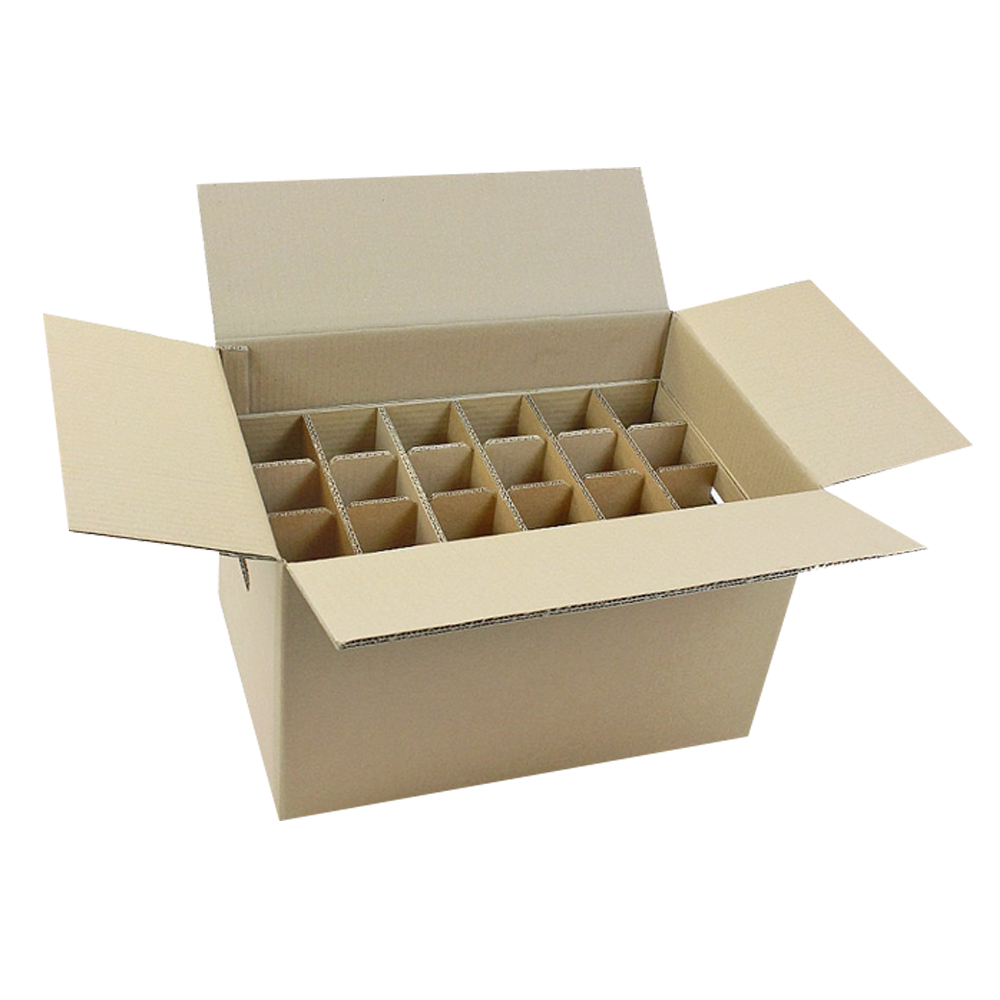 Cardboard Box Dividers 24 Bottles Cardboard Box With Dividers For Sale Coffe Packing