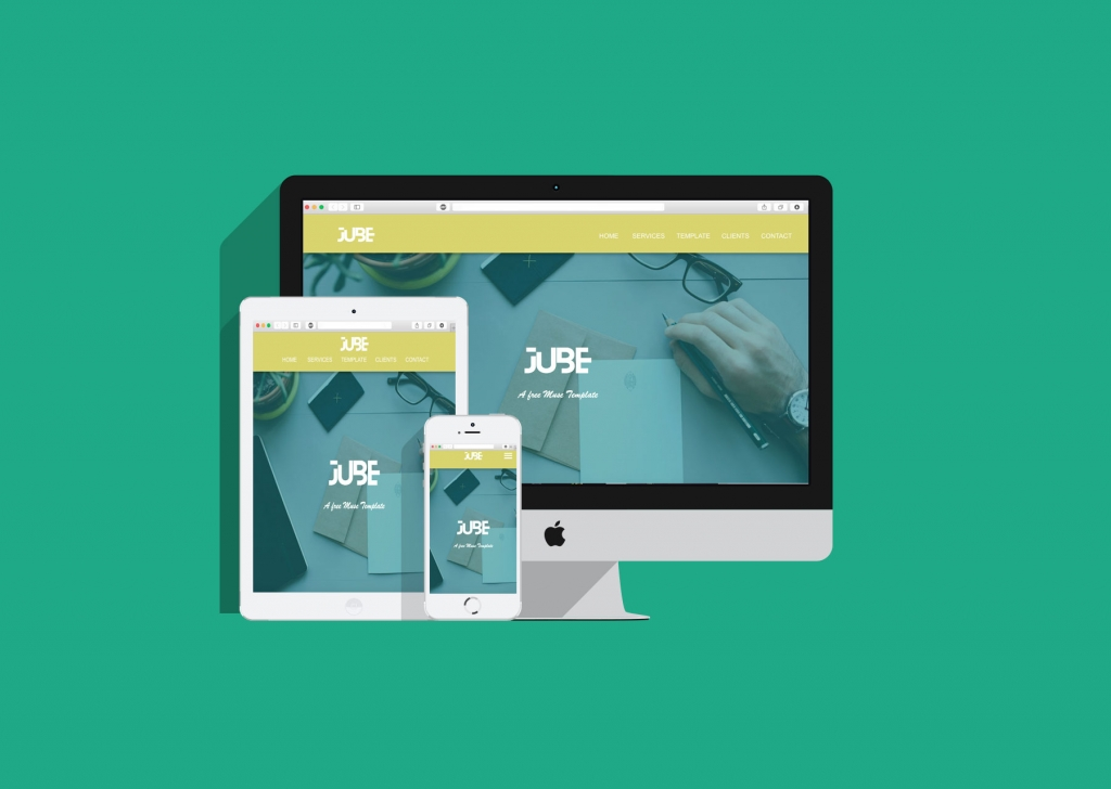 JUBE Adobe Muse Responsive Free Template - Responsive Muse