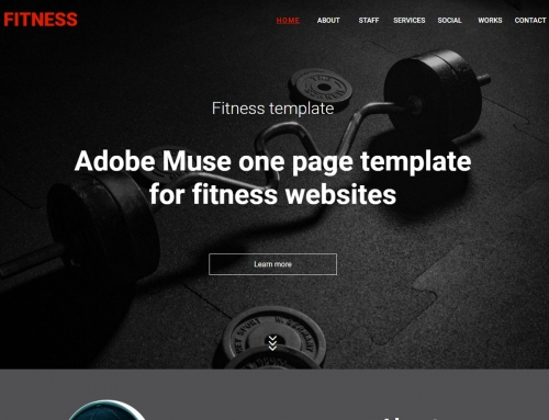 Free Muse Templates - Adobe Muse Free Themes