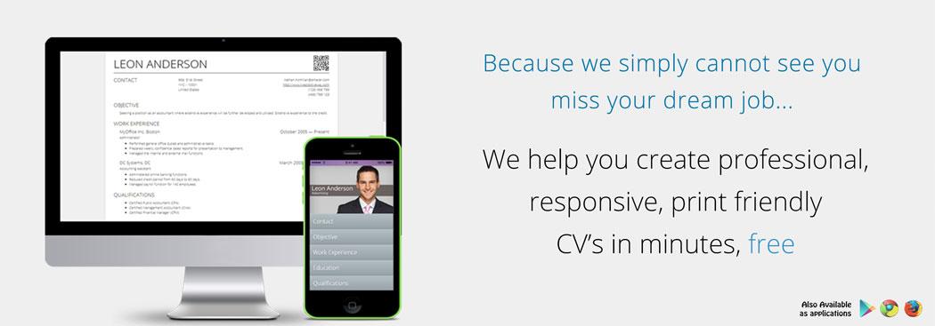 Online CV Builder with Free Mobile Resume and QR Code - Resume Maker