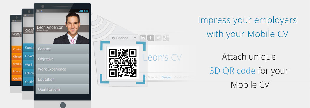 Online CV Builder with Free Mobile Resume and QR Code - Resume Maker - mobile resume