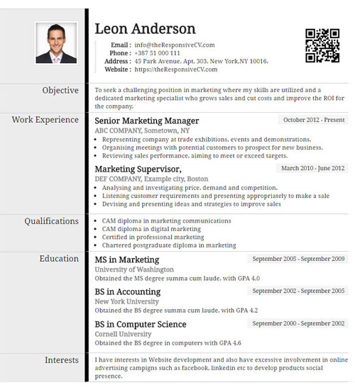 Boast Resume Template - Create Resume Online or Import from linkedin
