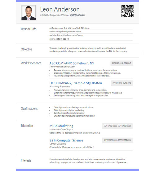 online cv builder with free mobile resume and qr code resume maker how to
