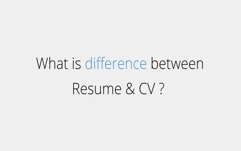 Difference between CV and resume - Responsive CV