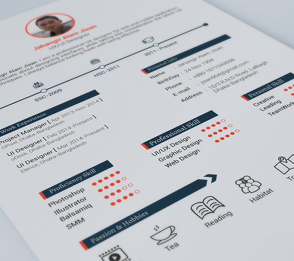 faire un cv design avec photoshop
