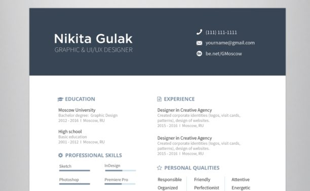 template cv a telecharger epure