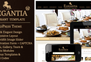 Elegantia - responsive Restaurant and Cafe WordPress Theme