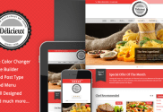 responsive premium restaurant wordpress theme
