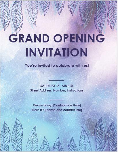 Restaurant Grand Opening Invitation Templates