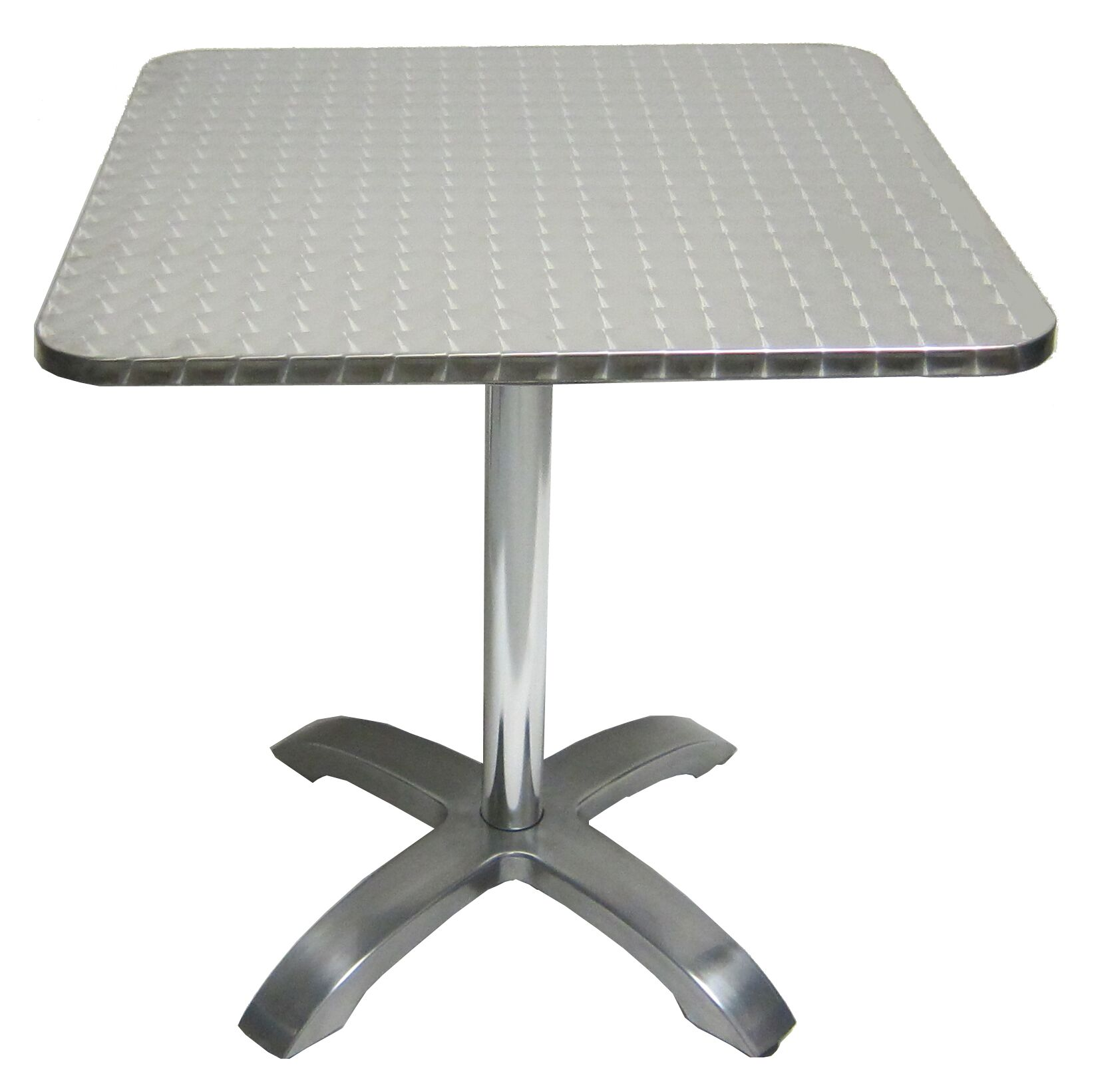 Stainless Restaurant Table Stainless Aluminum Square Indoor Outdoor Table
