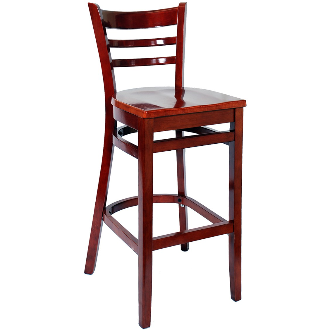 Stool Chair Ladder Back Wood Bar Stools