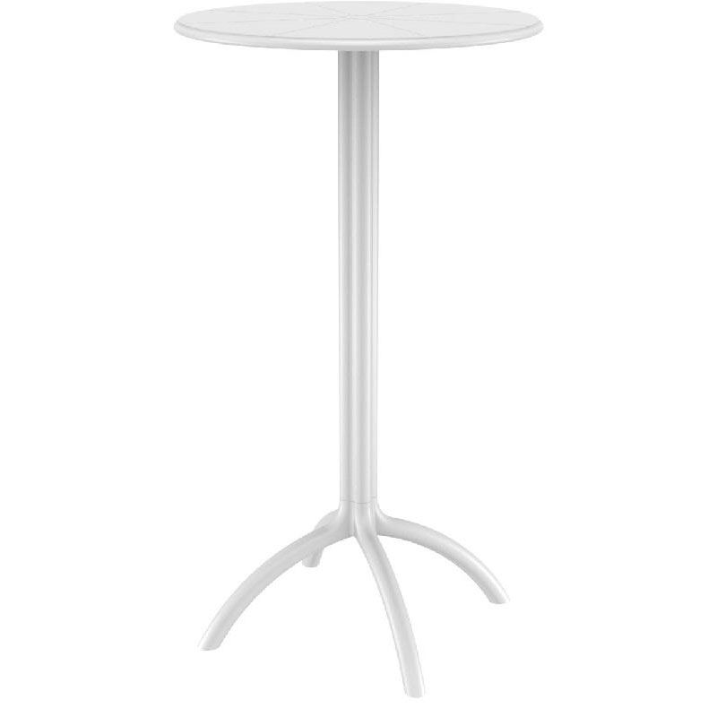 Table Polypropylène Octopus Outdoor Polypropylene 24 Round Bar Table White