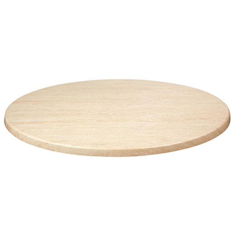 Round Table Tops Topalit 36 Round Indoor Outdoor Table Top Travertine