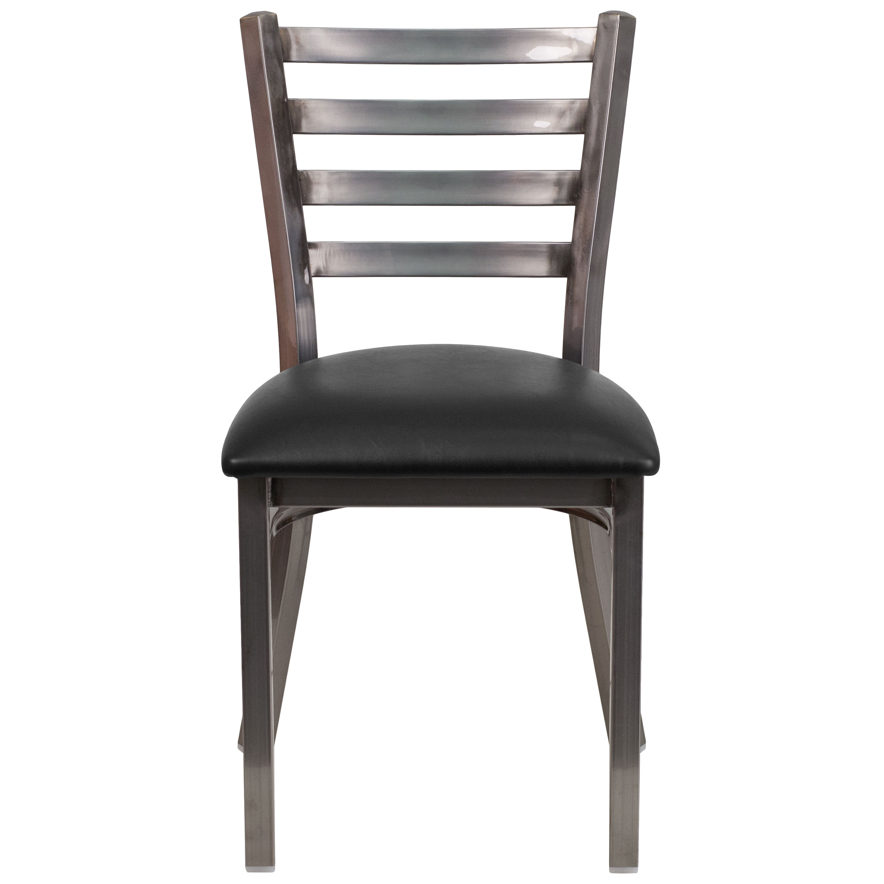 Restaurant Chairs Clear Ladder Chair Black Seat Bfdh 6147clrladbk Tdr