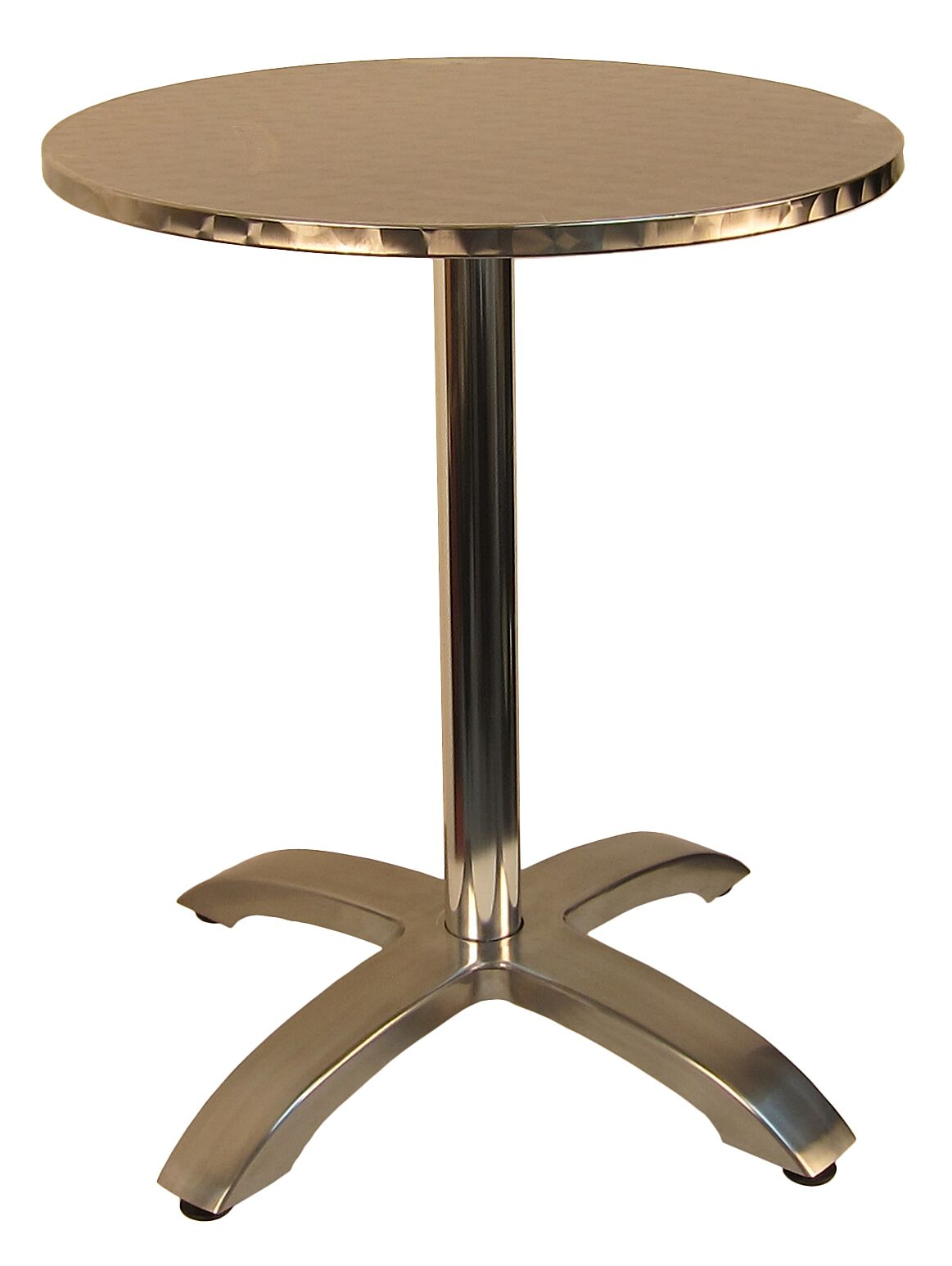 Stainless Restaurant Table Stainless Aluminum Round Indoor Outdoor Table