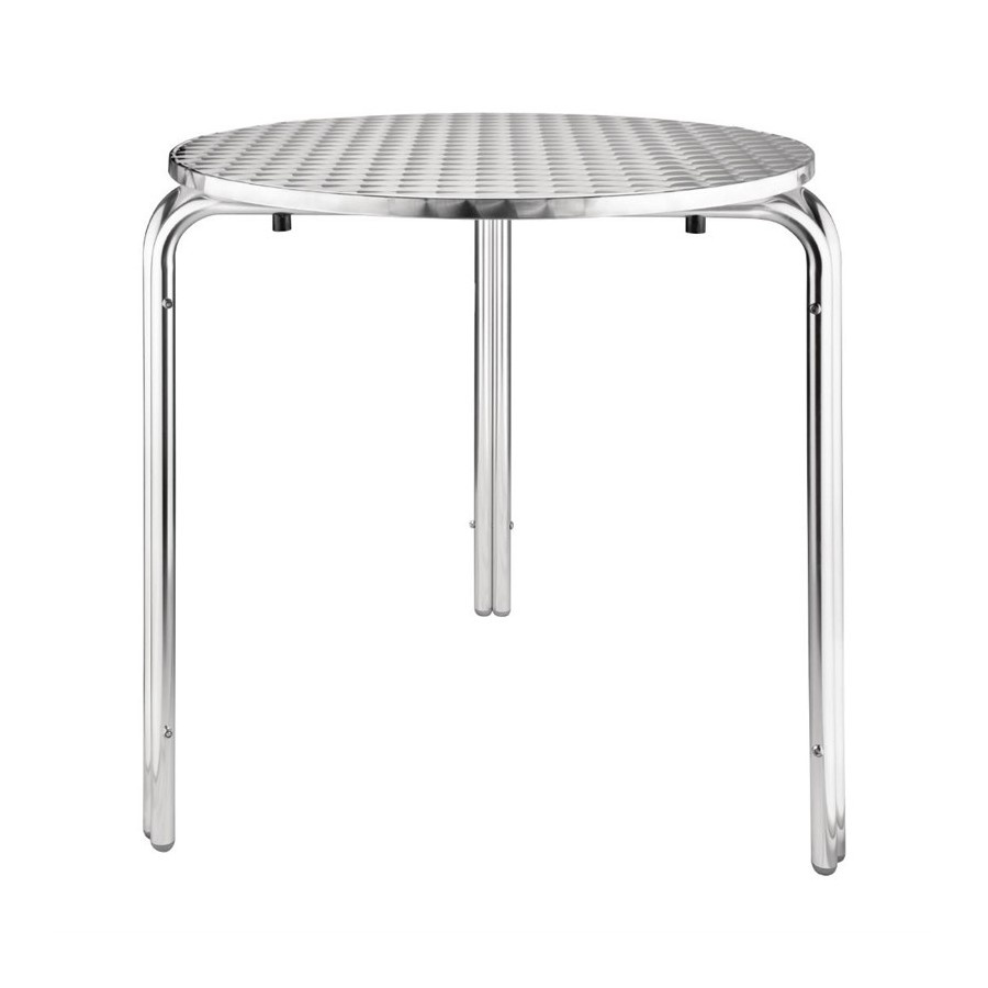 Table Bistrot Inox Table Bistro Empilable Ø70cm Acier Inoxydable Restonoble Fr