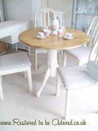 Shabby Chic Dining Table and Chairs ~ Before and After ...