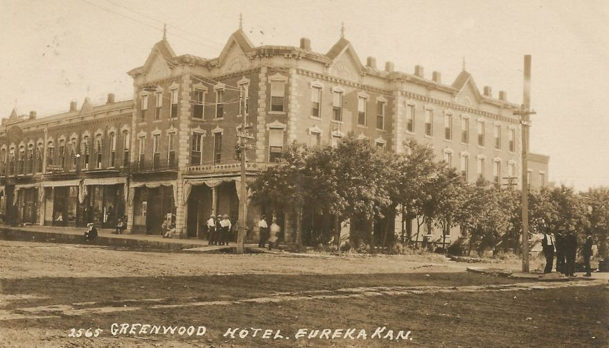 Greenwood Hotel, Eureka, KS, by Charles W. Squires.