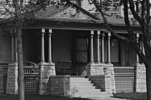 The Cross house front porch, 1895.