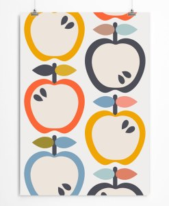 Apples pattern art print