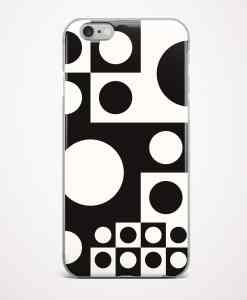 Abstract black and white seamless phone case