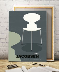 Ant chair canvas print