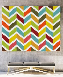Chevron canvas print horizontal