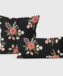Rose Pillows Black