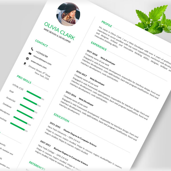 Resucv - best resume and cv templates for you!