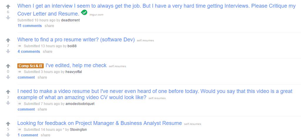 resume critique reddit