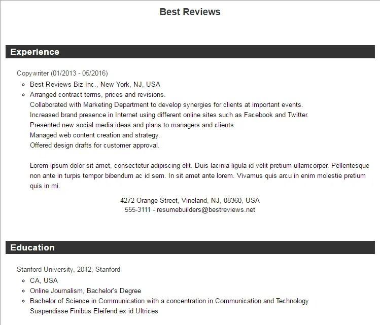 Nice Resume Companion Review Photos - Wordpress Themes Ideas ...