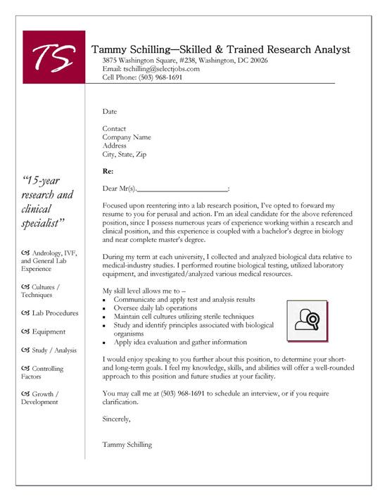 cover letter set up for resume