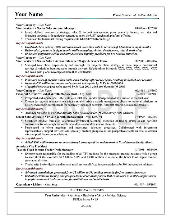 Executive Sales Resume Example - resume examples for sales