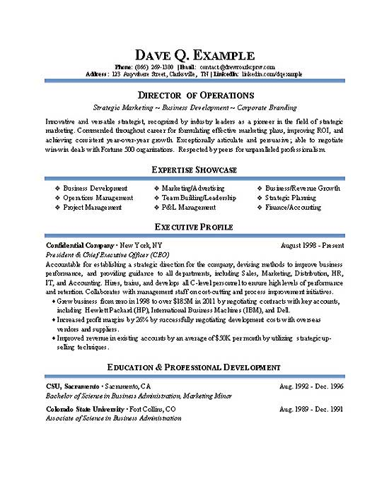 Operations Director Resume Example - Winning Resume Sample
