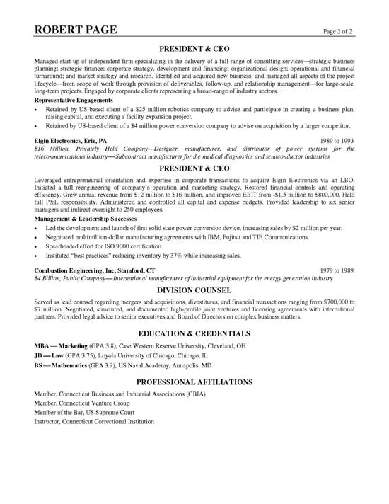 CEO Resume Example - International Broadcast Engineer Sample Resume