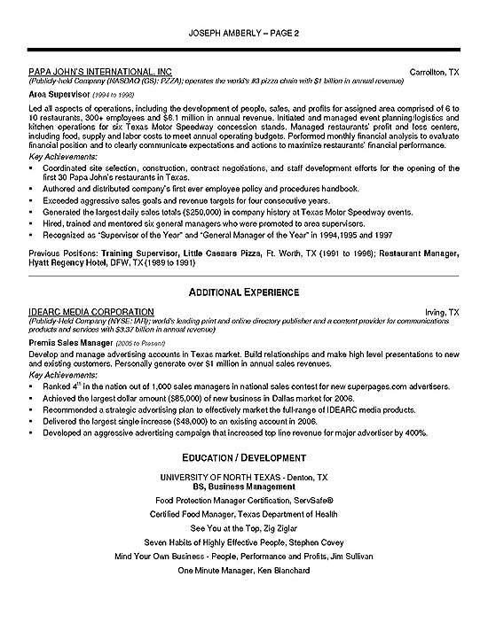 emergency management resume example