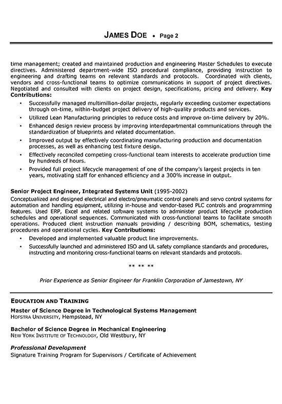 Sales Engineer Resume Example - technical sales sample resume
