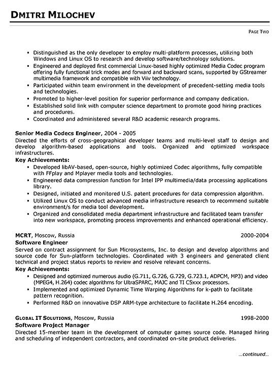 Systems Engineer Resume Example - computer systems engineer sample resume