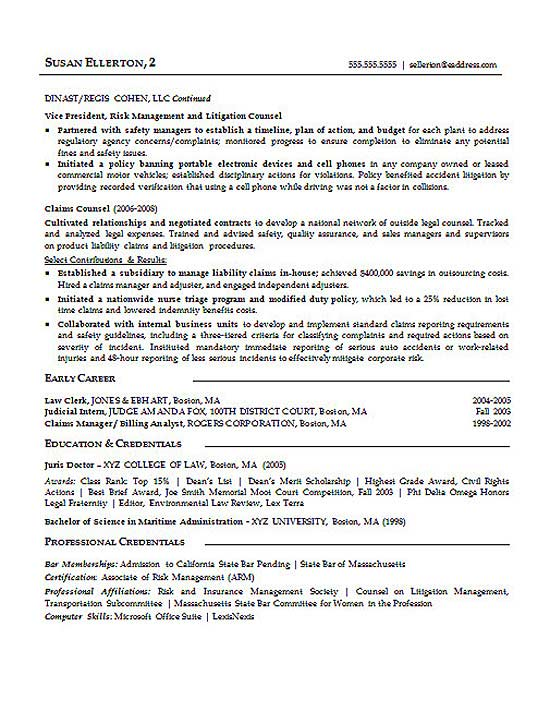 litigation attorney resume templates
