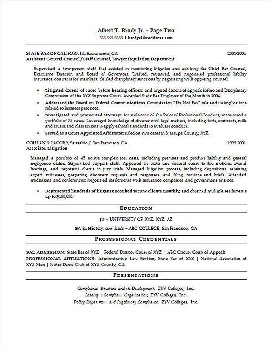 Compliance Officer Resume Example - legal attorney resume