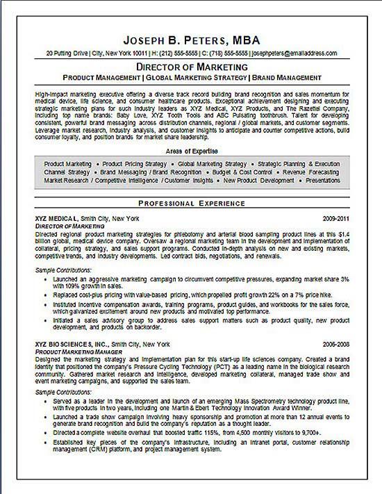marketing manager resume summary sample