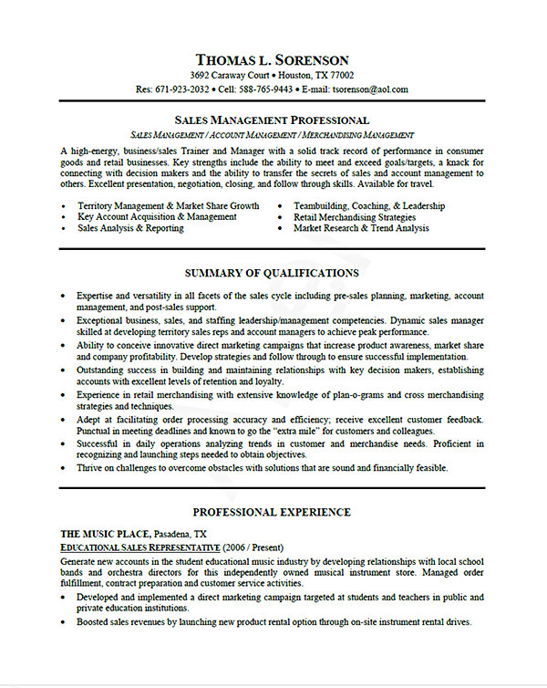 Resume Examples Professional Samples by Job Type, Career Level