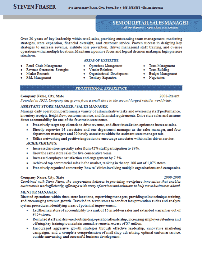 resume for workshop manager