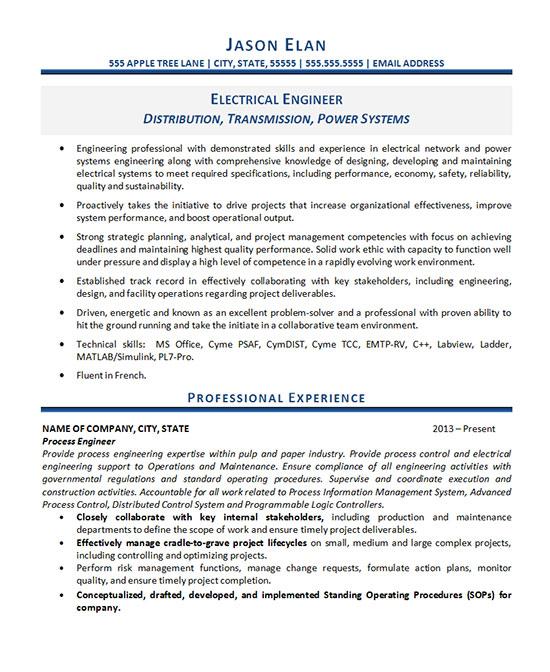 electrical engineer resume sample experienced pdf