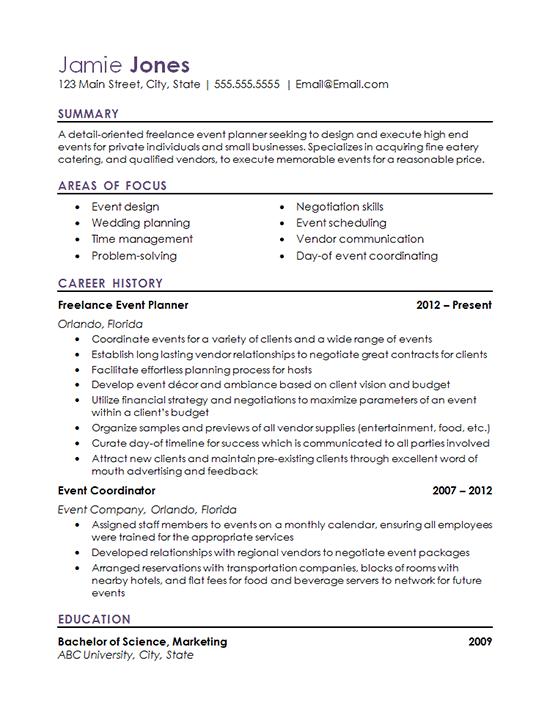 sample resume for sports coordinator