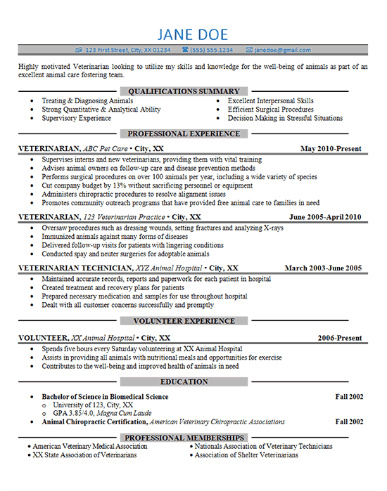 qualifications in resumes